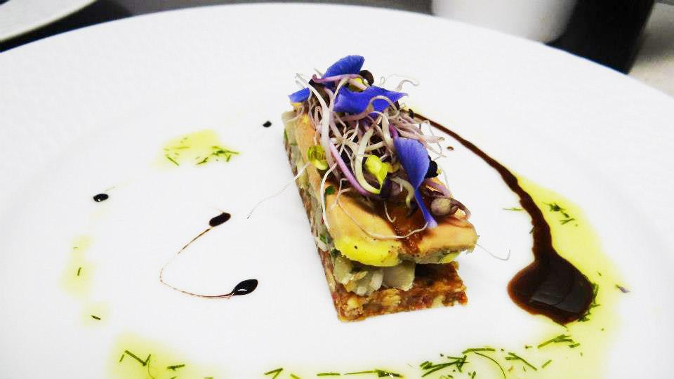 Mille feuille de foie gras - au puits des saveur